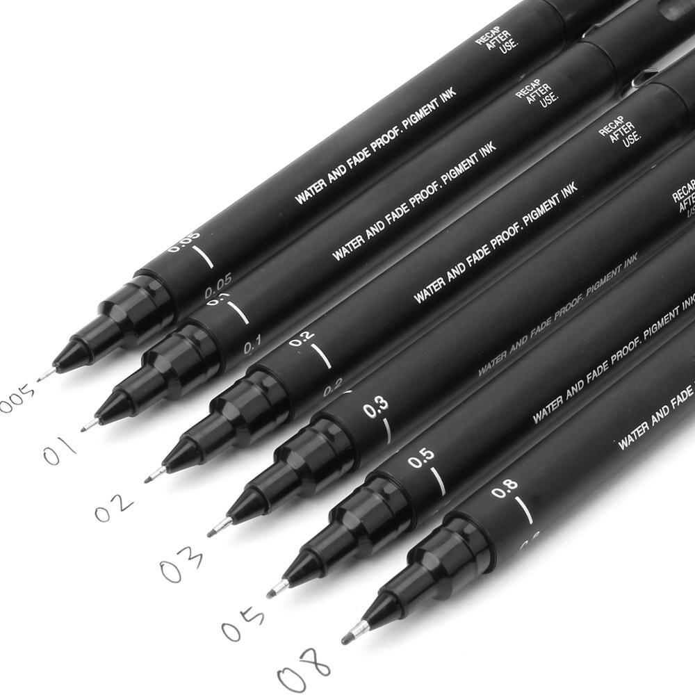 fineliner Pigma Micron Drawing Pen 005 01 02 03 04 05 08 Brush Waterproof Manga anime comic Pen NOT staedtler durable 308