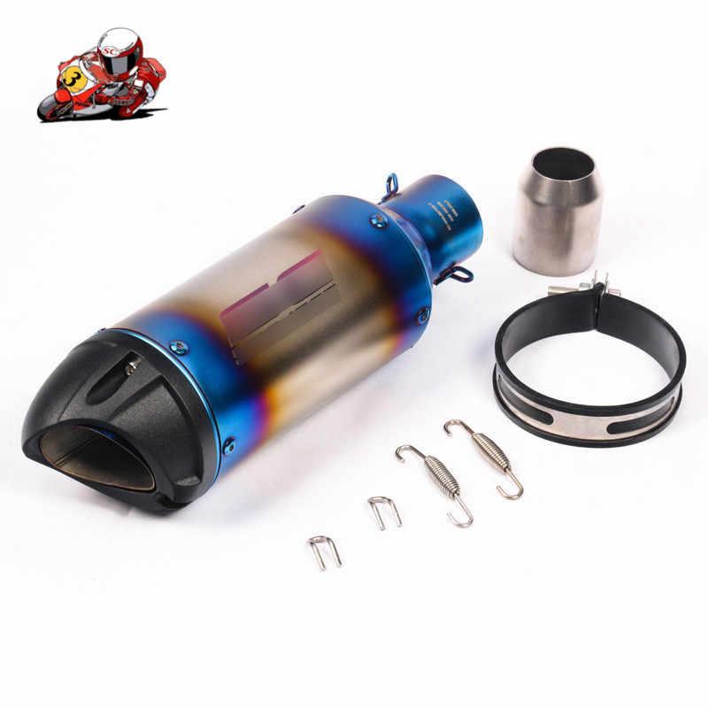 Silenciador de escape de motocicleta Universal de 38-51mm tubo de cola de silenciador deslizamiento en bicicleta de tierra ATV para KTM 200 390 Ninja 400 de 300