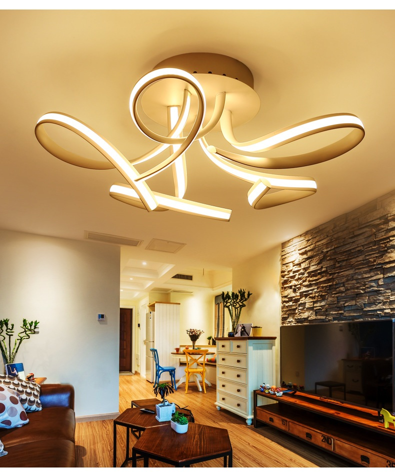 Art shaped LED ceiling lamp home living room bedroom study restaurant lights office commercial lighting Ceiling light 110-240V