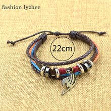 Naruto/AOT/Fairy Tail Multilayer Sythentic Leather Bracelet