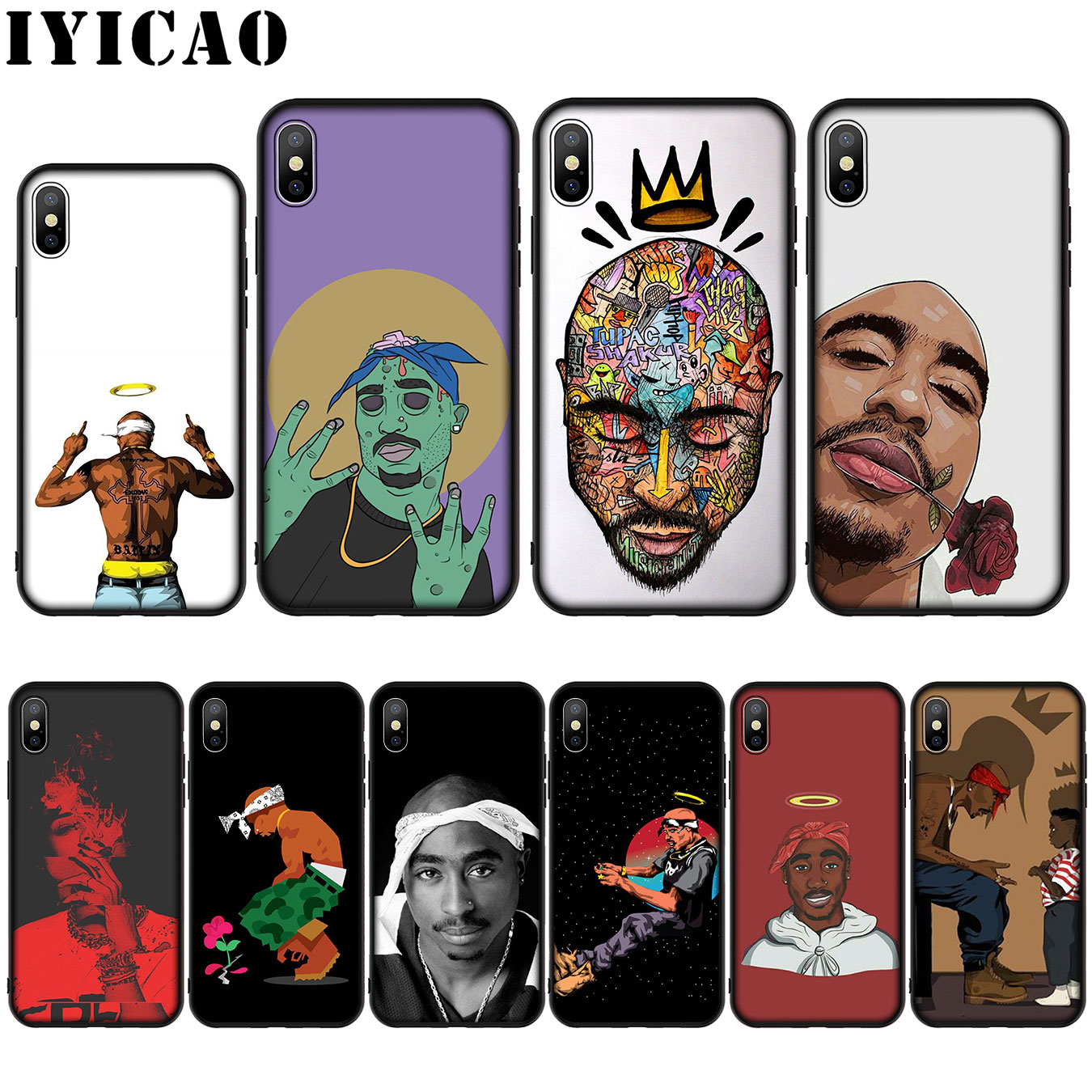 2Pac Tupac Shakur Super Deal Mobile love Silicone Soft Case for iPhone 11 Pro XS Max XR X 8 7 6 6S Plus 5 5S SE Cover image