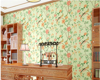 Beibehang Chinese Pastoral Non Woven 3d Wallpaper Stereo TV Background Wall Chinese Wind Bird Wallpaper Papel
