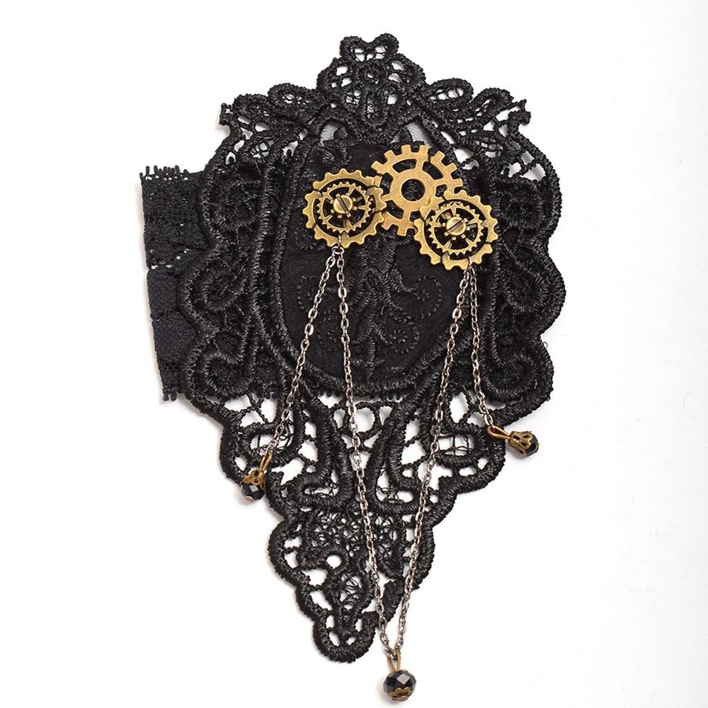 Lace Armband Vintage Women Steampunk Gear Black Upper Arm Single Bracelet Armlet Cuff