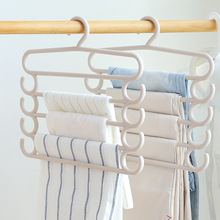 1PC Plastic Hangers Creative Home Five-Layer Storage Pants Rack Colorful Multi-Functional Towel Clothes Hanger Racks Organizer
