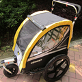 2 en 1 abmex 16 pulgadas Marco De Aleación De Aluminio cochecito Jogger remolque de bicicleta con seguro de freno de mano