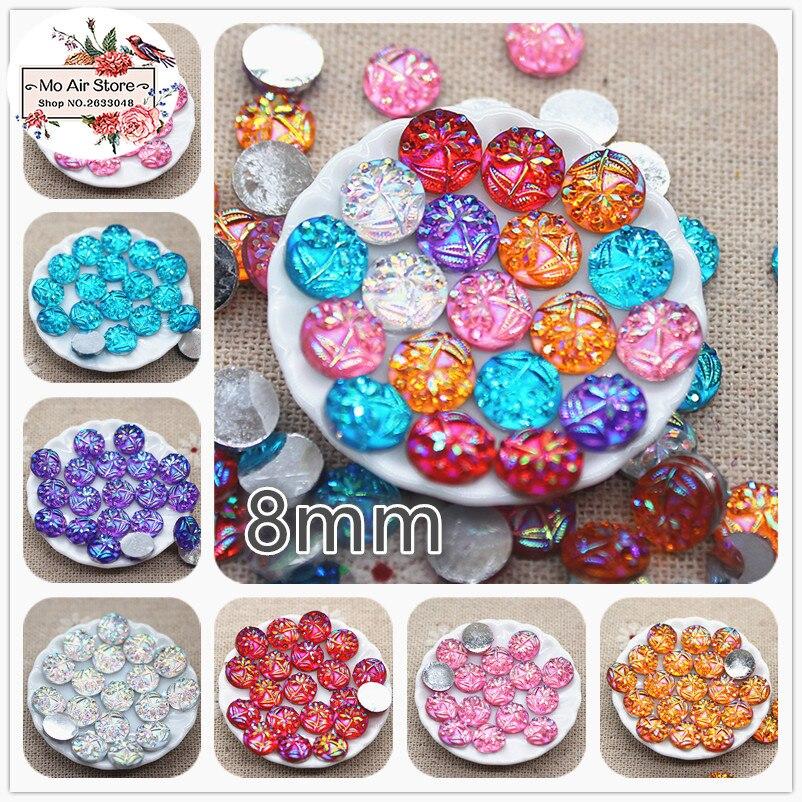 Acrylic Flat back candy colour Rhinestone Gems 4 mm for Craft decoration 100 Pcs