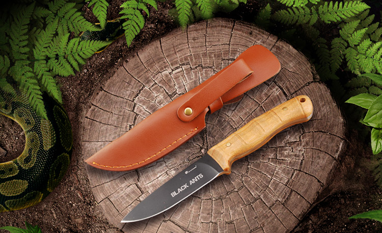 HX OUTDOORS Fixed Blade Knife D2 Blade With Bamboo Handle Defense Survival Camping Rescue Knives Outdoor Tool  Leather sheath aluminum handle small machete fixed blade knife self defense outdoors camping tactical survival knives 1868