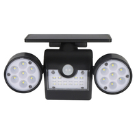 New 30 leds Double Head Solar Lamp Outdoor Waterproof Garden Wall Solar Light With Rotation Adjustable Angle Security Lighting