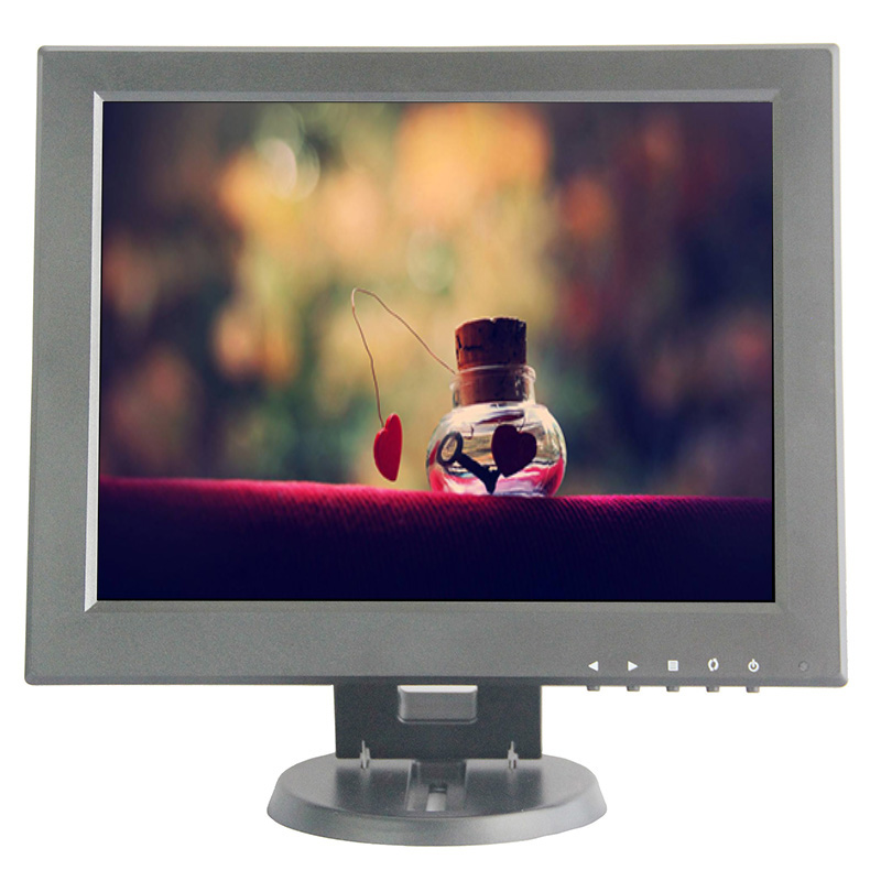 12 Inch HDMI Monitor with BNC VGA AV HDMI Input 1024*768 Portable TFT LCD Mini HD Color Video Screen for PC CCTV Home Security