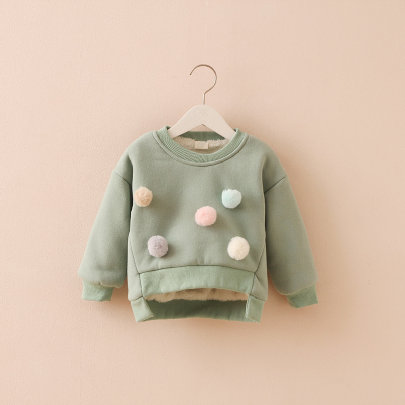 e9e9a6f35 Baby Pullover Sweater Clothes Girls Hairball Tops Jackets Coat ...