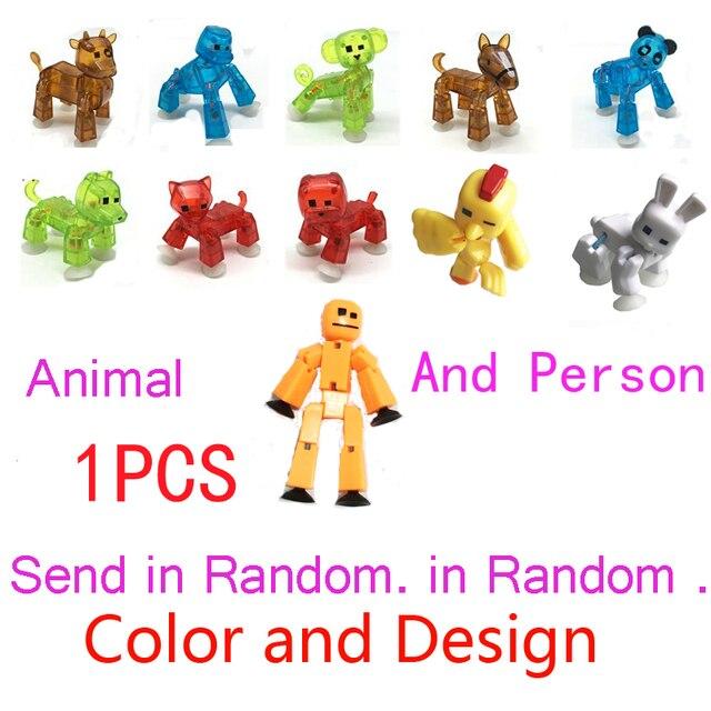 1PCS Stikbot Pets Sticky Robot Studio Action Figure Toy Kids Toy ...