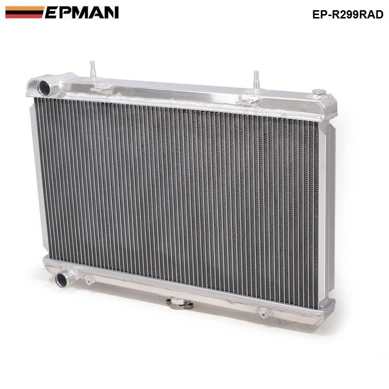 EPMAN-Performance 50mm 2 Row  Alloy aluminum radiator For Nissan Skyline R32 RB20/25 89-93 Manual EP-R299RAD epman universal 2 25 inch 57mm turbo intercooler aluminum pipe silicone hose kit black length 600mm for bmw e60 ep lgtj57 600