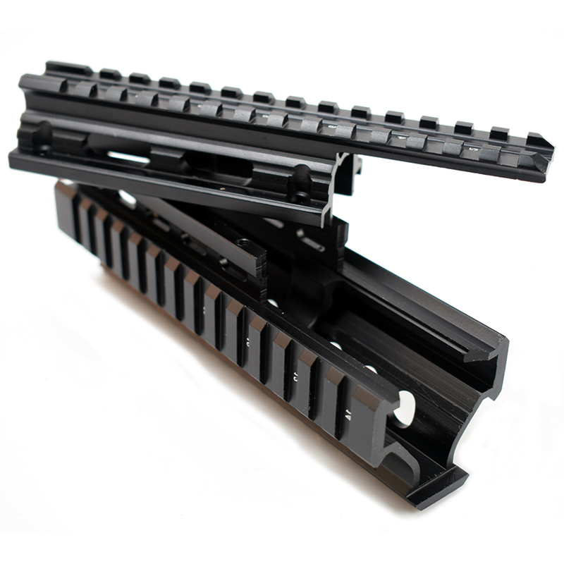 Tactical Drop in Quad Rail Scope Mount RIS Quad Handguard for AK 47 AK74 AKS Hunting Shooting Airsoft Rifle Accessory Black Tan in Scope Mounts Accessories from Sports Entertainment