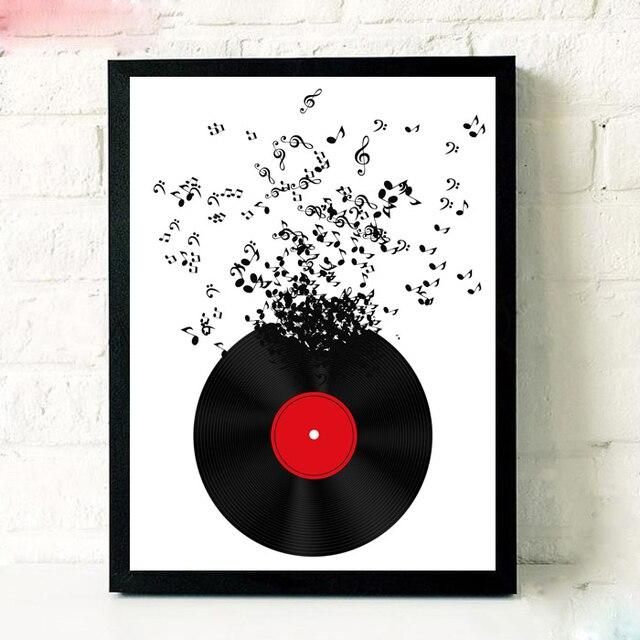 Music Notation CD Poster Modern Art Print Picture For Living Room ...