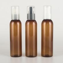 1pcs 150ml brown round shoulder lotion pump Shampoo shower gel empty bottle lotion hand sanitizer bottled travel wholesale BQ164 цена