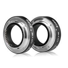 Metal otomatik odak makro uzatma tüpü Fujifilm X T20 XT2 X T10 XT3 X100F X H1 X A5 X PRO2 X A1 X T1 X T10 Meike MK F AF3 r25