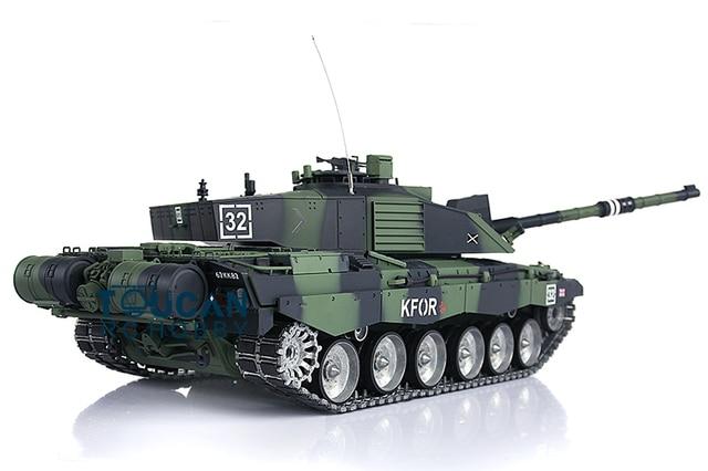 0f95a78e5635 Henglong 1 16 Scale Challenger II RTR RC Tank Nato Camo Green Metal Tracks  Road Wheels 3908