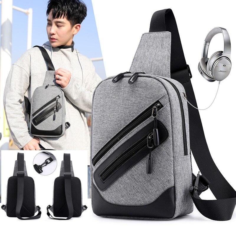 2019 Brust Tasche Pack Vintage Männer Rucksack Schulter Taschen Weiblichen/männlichen Reise Rucksack Multifunktions Kleine Taschen Herren Zurück Pack Tasche
