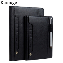 For iPad Air 2/1 Case Book Premium PU Leather Flip Card Holder Stand Smart Auto Wake/Sleep Cover for 5 6 Capa Para+Pen