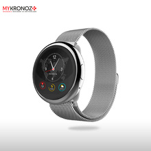 Смарт часы ZeRound2HR Elite цвет серебро, миланский сетчатый браслет цвет серебро