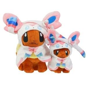 Big Size Eevee Poncho Umbreon Espeon Jolteon Vaporeon Sylveon Flareon Plush Doll Stuffed Toys