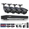 ANNKE 4CH 720 P AHD DVR Видео 4 ШТ. 1.0MP CCTV Дома Камеры безопасности 720 P HD Открытый ИК Ночного Видения Системы Видеонаблюдения Комплект