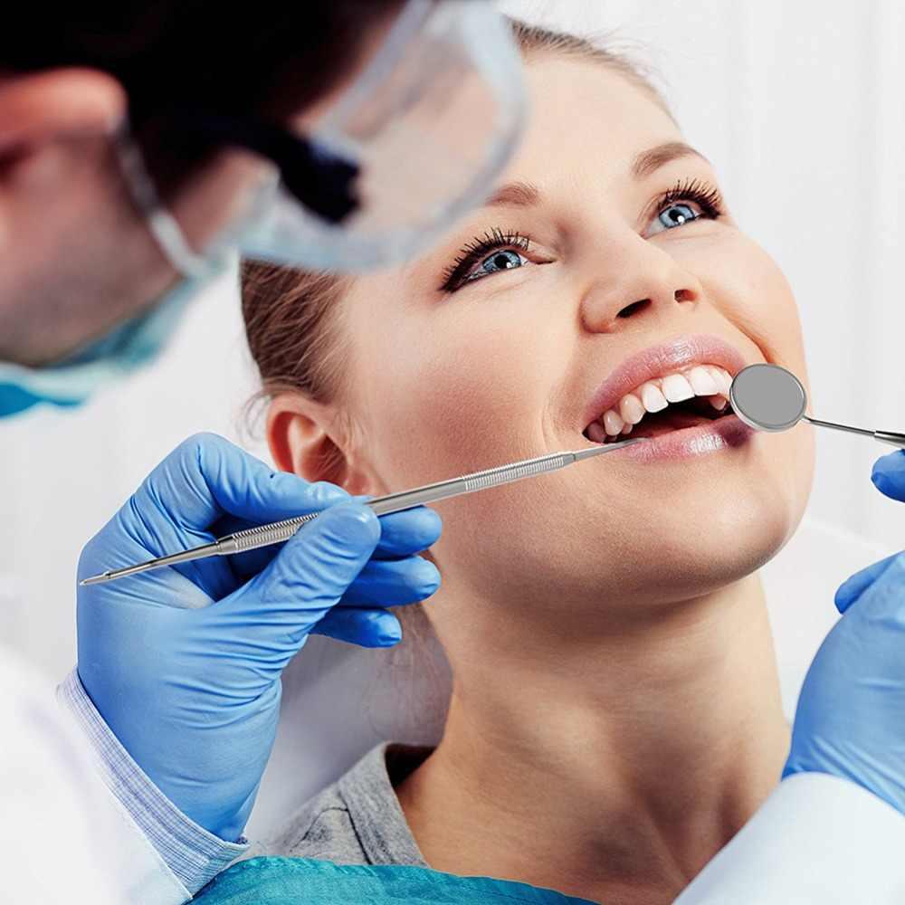 Vaclav שיניים כלי סט שיניים מראה נירוסטה מראה פה שיניים היגיינה ערכת מכשיר איסוף שיניים רופא שיניים להכין כלי