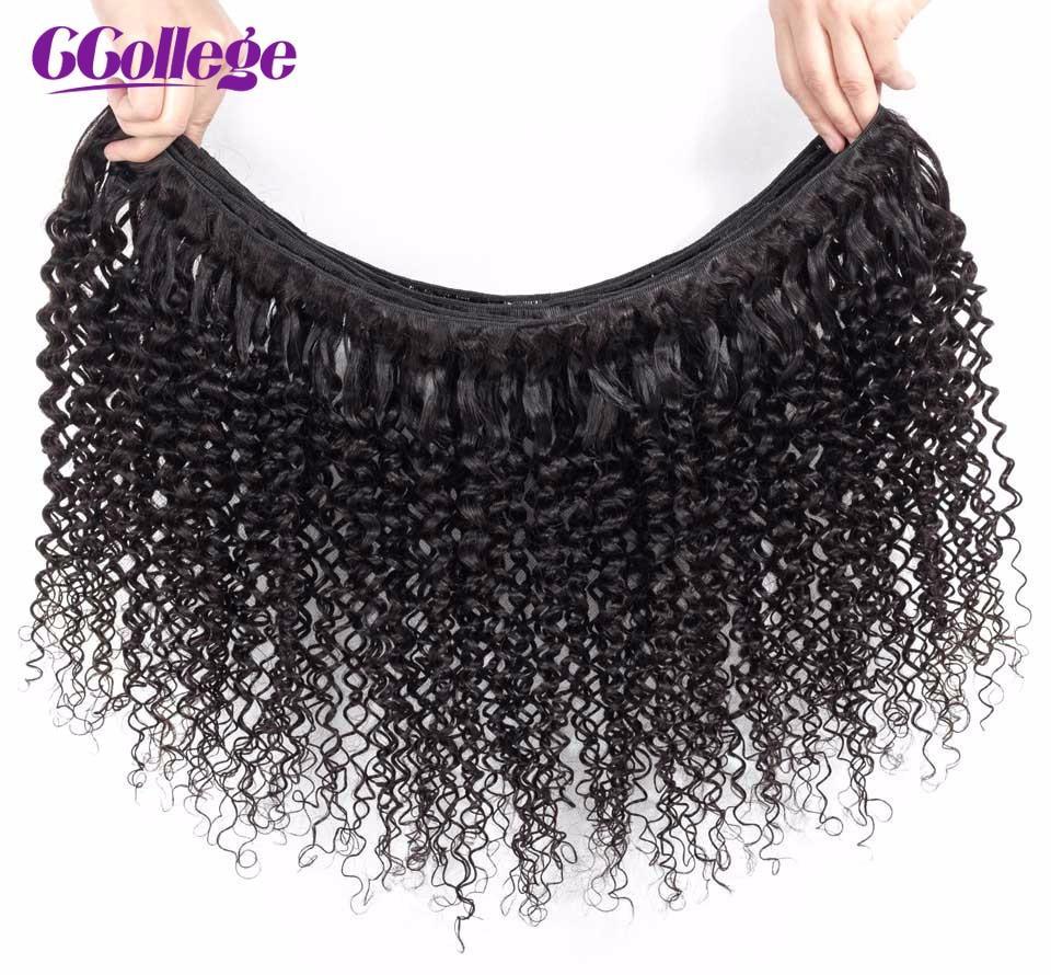Malezya Kinky Kıvırcık Hiçbiri-Remy Saç Örgü 3 Demetleri 3 - İnsan Saçı (Siyah) - Fotoğraf 6
