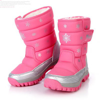 China Top Brand 2014 Autumn Winter Children Boots Kids Fashion Snow Boots Boys Girls Boots Parents