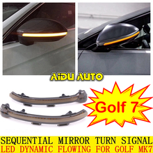 AIDUAUTO FOR VW Golf MK7 7.5 7 GTI R GTD Dynamic Blinker LED Turn Signal For Volkswagen Rline Sportsvan Touran Side Mirror Light