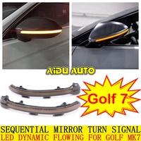 AIDUAUTO FOR VW Golf MK7 7.5 7 GTI R GTD Dynamic Blinker LED Turn Signal For Volkswagen Rline Sportsvan Touran Side Mirror Light