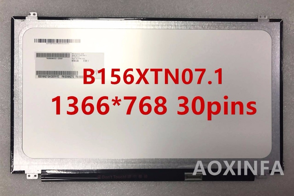 15.6'' Laptop slim lcd led matrix screen B156XW04 V.5 B156XTN07.1 B156XTN03.3 N156BGE-EB1 N156BGE-E31 LP156WHU TPA1 B156XTN03.1 free shipping nt156whm n42 lp156wh3 tps1 lp156whu tpa1 n156bge ea1 eb1 b156xw04 v 8 v 7 b156xtn03 1 30pin display laptop screen