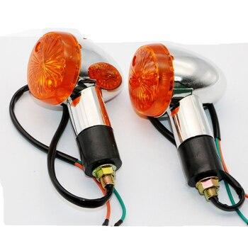 2 stks Motorrijwiel Amber Tail Bullet Knipperlichten Lights voor Suzuki Intruder Volusia VS 700 750 800 1400 1500 op