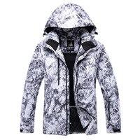 Thermal Ski Jackets Men Snowboarding Clothing Winter Outdoor Sportswear Hooded Snow Skiing Jacket Windproof Waterproof Skiwear