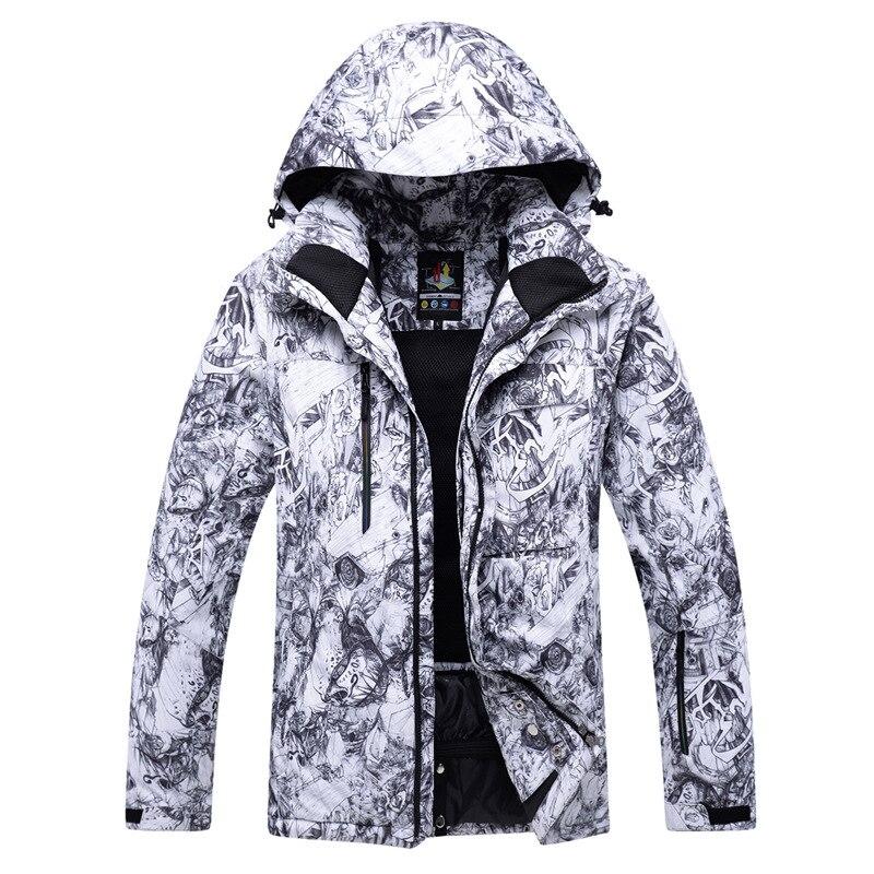 Vestes de Ski thermiques hommes vêtements de snowboard tenue de ville d'hiver veste de Ski de neige à capuche coupe-vent vêtements de Ski imperméables