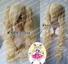 Pretty Cure Cosplay Cure Peach Long Platinum Blonde Wig