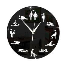 Latest art bar, cafe, fun clock, husband bedroom decoration, acrylic mirror wall clock