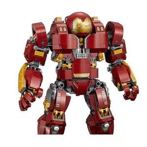 Image 2 - لعبة سوبر هيروز 10833 انفينتي وور The Hulkbusteres متوافقة مع 76105 قواعد حاملة لعبة مكعبات البناء للأطفال 07101