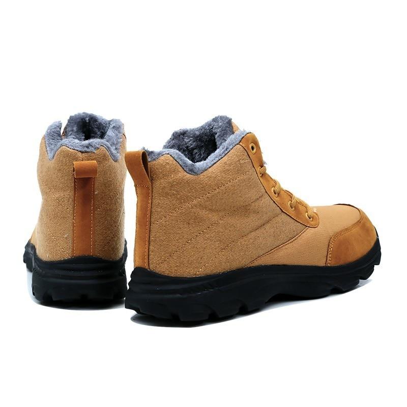 cdaeef2d8fe0a1 Respirant Occasionnels De Chaussures Imperméable Hommes Mode Chaud noir  Neige Lacent Adultes bleu Solide Hiver Beige IgPxS