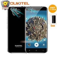 "D'origine Oukitel U22 Quatre Caméras 5.5 ""Mobile téléphone Android 7.0 MTK6580A Quad Core 8MP 2 GB RAM 16 GB ROM Retour Tactile ID Smartphone"