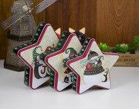 Creative Christmas gift box 3 in 1 set carton biscuit candy storage tin cake sweet sugar tea coffee tin