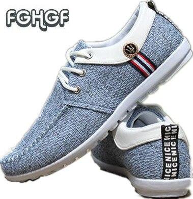 190d8ccbeb640 Elegante primavera hombres Lino zapatos mocasines para Hombre Zapatos  casuales hombres negocios transpirable Zapatos Zapatillas Hombre