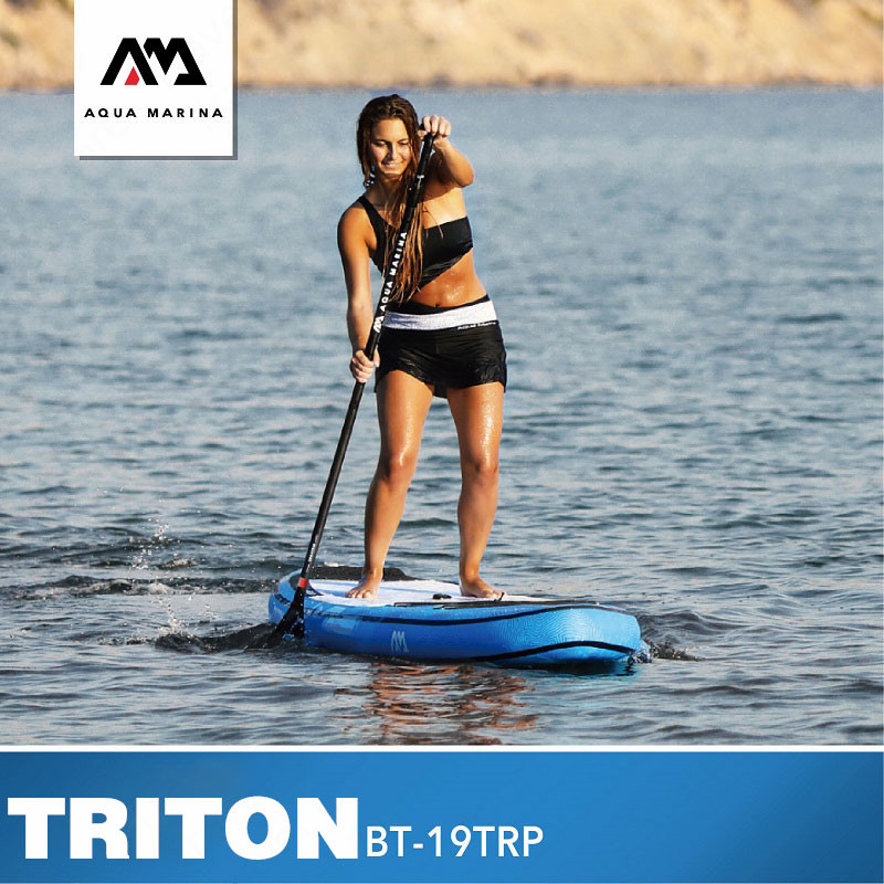 AQUA MARINA TRITON 2019 nueva tabla de Surf SUP tablas de Surf Tabla de paleta inflable tablas de Surf de pie 340*81*15cm surf