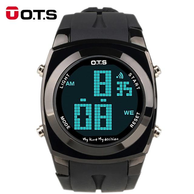 07e8669ffc8 OTS Criativo Original Grande Número Estilo Relojes Homens relógio Do Esporte  À Prova D  Água