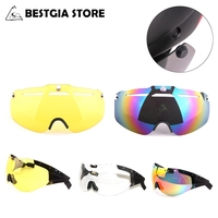 Cairbull Bicycle Helmet Lens Aero Road Cycling TT Helmet Goggles  Helmet Magnetic Lens Yellow\/Colored\/Grey\/Transparent Glasses
