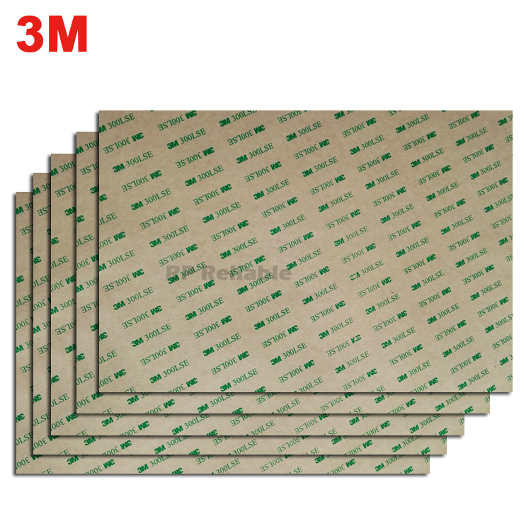 BIG Like A4 Size (210mm*290mm) Super Strong Bond 3M 300LSE Double Adhesive Sticker For Smooth Wood Foam PVC Metal Screen Surface