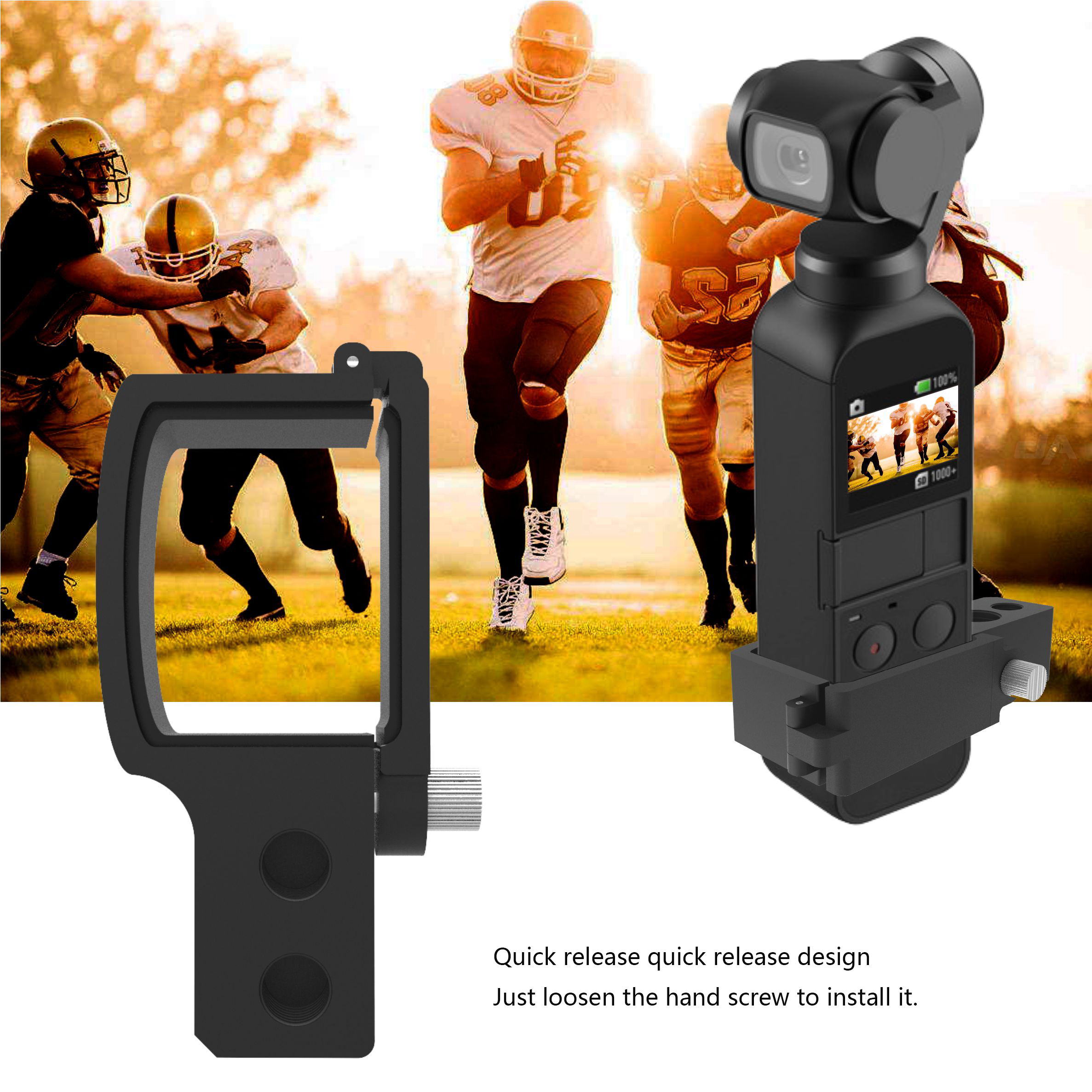 Quick-release DJI Osmo Pocket Gimbal Camera CNC Extension Module Connection DJI OSMO POCKET Expansion Adapter block Accessories 1
