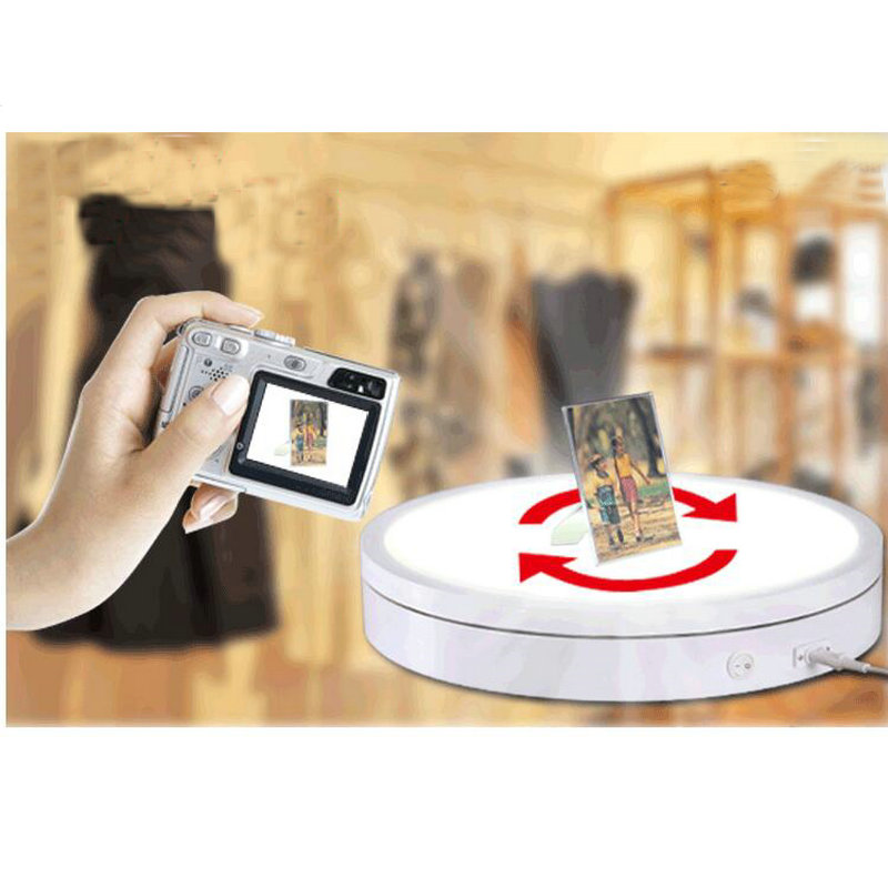 HQ LT01 LUMINOUS 300X80MM Light Glowing Electric Automatic Rotary Rotating Turntable Display Stand 3 speed change remote and manual control 60 90 120 secs circle 60x10cm electric turntable display stand rotary model show