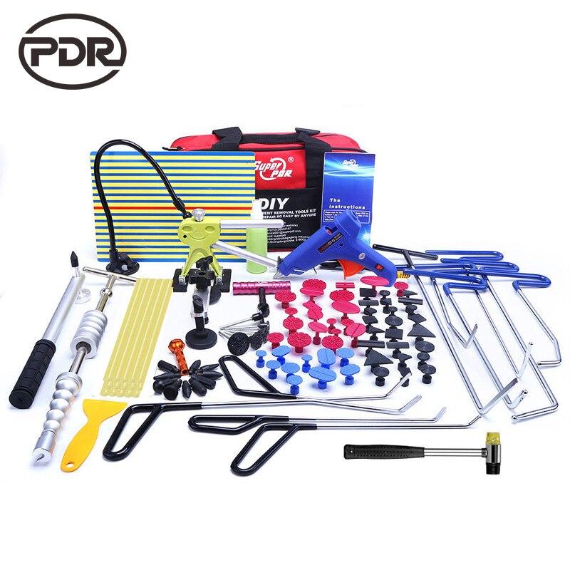 PDR Werkzeuge Haken Edelstahl Push Stangen Dent Entfernung Auto Body Dent Reparatur Reverse Hammer Paintless Dent Remover Brecheisen Kit