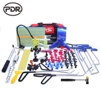 PDR Tools Hooks Stainless Steel Push Rods Dent Removal Car Body Dent Repair Reverse Hammer Paintless Dent Remover Crowbar Kit